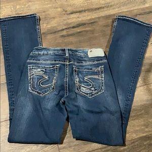 Silver Suki Jean size 27 mid slim bootcut